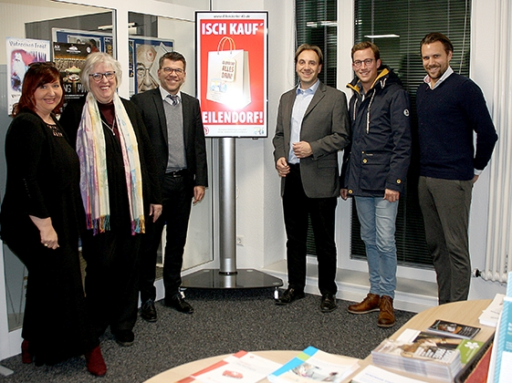 Display im Bezirksamt Eilendorf